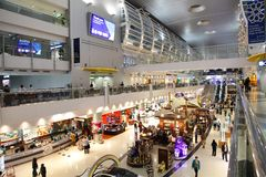 Dubai International-Flughafen ist eine bedeutende Luftfahrtnabe im Middl Stockbild