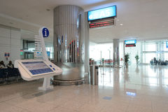 Dubai International-Flughafeninnenraum Stockfotos