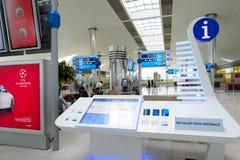 Dubai International-Flughafeninnenraum Lizenzfreie Stockfotos