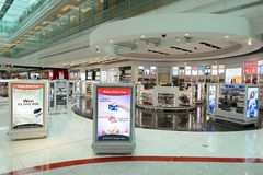 Dubai International-Flughafeninnenraum Lizenzfreies Stockbild