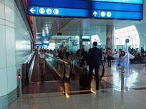 Dubai International lotnisko, odjazdy zdjęcia royalty free