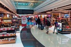 Dubai International-Luchthaven, Vertrek Royalty-vrije Stock Foto