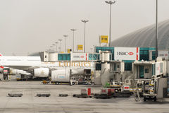 Dubai-internationaler Flughafen Stockbild