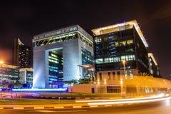 Dubai internationell finansiell mitt Arkivbilder
