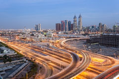Dubai Internet Cty at night. Dubai Royalty Free Stock Photo