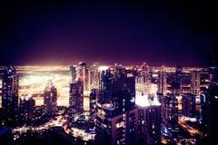 Dubai-Jachthafen nachts Lizenzfreie Stockfotografie