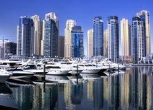 Dubai-Jachthafen yaght Bucht Stockfoto