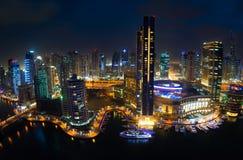 Dubai-Jachthafenansicht Lizenzfreies Stockfoto