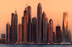 Dubai-Jachthafenbucht, UAE Stockbilder