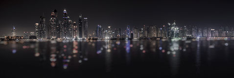 Dubai-Jachthafenreflexion lizenzfreies stockbild