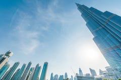 Dubai - 10. Januar 2015: Burj Khalifa im Januar Stockfotos