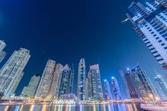 Dubai - 10. Januar 2015: Jachthafenbezirk an Stockfoto