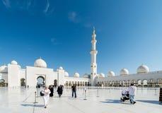 Dubai - 9. Januar 2015: Sheikh Zayed-Moschee an Stockbild