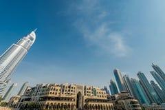 Dubai - JANUARI 10, 2015: Adresshotellet på Arkivbilder