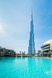 Dubai - JANUARI 10, 2015: Burj Khalifa på Januari Fotografering för Bildbyråer