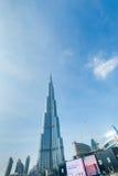 Dubai - JANUARI 10, 2015: Burj Khalifa på Januari Royaltyfria Bilder