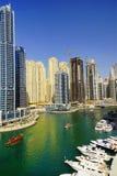 DUBAI JANUARI 09, 2017 - Cityscape av Dubai, UAE, Asien Arkivfoton