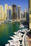 DUBAI JANUARI 09, 2017 - Cityscape av Dubai, UAE, Asien Royaltyfri Foto