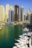 DUBAI JANUARI 09, 2017 - Cityscape av Dubai, UAE, Asien Royaltyfri Bild