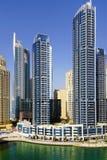 DUBAI JANUARI 09, 2017 - Cityscape av Dubai, UAE, Asien Royaltyfria Foton