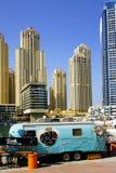 DUBAI JANUARI 09, 2017 - Cityscape av Dubai, UAE, Asien Arkivfoto