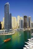 DUBAI JANUARI 09, 2017 - Cityscape av Dubai, UAE, Asien Arkivbilder