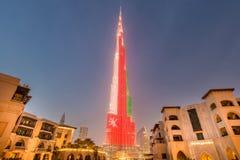 Dubai - JANUARY 9, 2015: Burj Khalifa building on Royalty Free Stock Photo