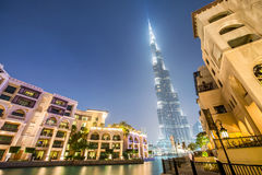 Dubai - JANUARY 9, 2015: Burj Khalifa building on Royalty Free Stock Photography