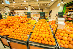 Dubai - JANUARY 7, 2014: Dubai Supermarket Royalty Free Stock Photography