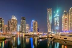 Dubai - JANUARY 10, 2015: Marina district on Royalty Free Stock Image