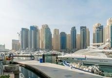 Dubai - JANUARY 10, 2015: Marina district on Stock Photography