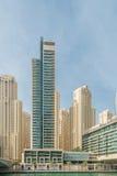 Dubai - JANUARY 10, 2015: Marina district on Stock Image