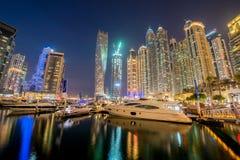 Dubai - JANUARY 10, 2015: Marina district on Royalty Free Stock Photography