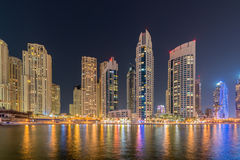 Dubai - JANUARY 10, 2015: Marina district on Stock Photo