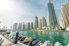 Dubai - JANUARY 10, 2015: Marina district Royalty Free Stock Image