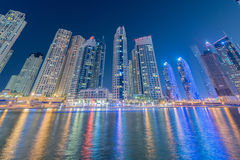 The dubai - january 10, 2015: marina district on Royalty Free Stock Image