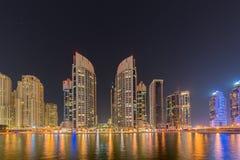The dubai - january 10, 2015: marina district on Stock Image