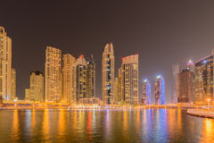 Dubai - JANUARY 10, 2015: Marina district on Stock Photo
