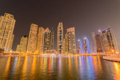 Dubai - JANUARY 10, 2015: Marina district on Stock Image