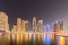 The dubai - january 10, 2015: marina district on Royalty Free Stock Images