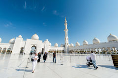 Dubai - JANUARY 9, 2015: Sheikh Zayed mosque on Royalty Free Stock Photography