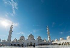 Dubai - JANUARY 9, 2015: Sheikh Zayed mosque on Royalty Free Stock Photo