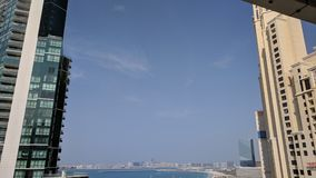 Dubai JBR sky ceiling buildings sky line Royalty Free Stock Images