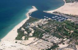 Dubai jebelali område royaltyfri foto