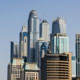 Dubai Jumeira Beach Residence (JBR) buildings. The skyscrapers of Jumeirah Beach Residence Stock Photography