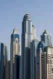 Dubai Jumeira Beach Residence (JBR) buildings. The skyscrapers of Jumeirah Beach Residence Royalty Free Stock Images