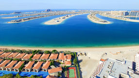 Dubai Jumeirah Palm, aerial view Royalty Free Stock Images