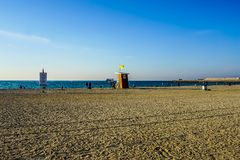 Dubai Jumeirah Public Beach royalty free stock image