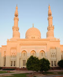 dubai jumeirahmoské Royaltyfri Foto