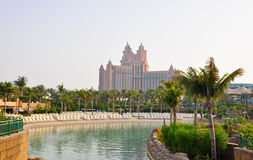 DUBAI-JUNE 17: The Aquaventure waterpark of Atlantis the Palm hotel on June 17, 2009 in Dubai, United Arab Emirates. Stock Photo